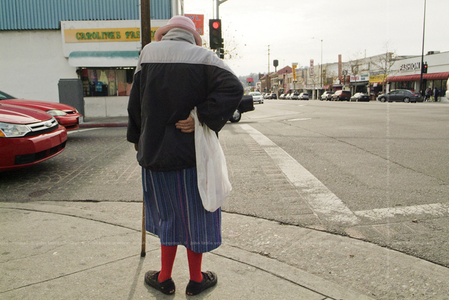 figueroa street. gentrification affects the elderly living on fixed incomes with rising rents. we are finding many becoming homeless because they are unwilling and unable to leave someplace they called home for so many years.