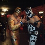 la ola nueva with special guest luchadores at club los globos, sunset boulevard.